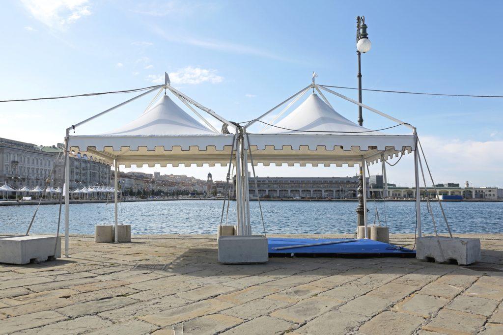 tente pagode de 3x3m 9m² port de marseille