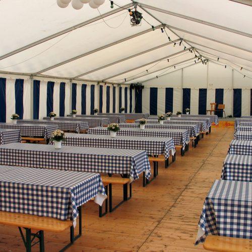 des tables pour evenement